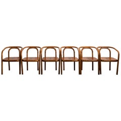 Thonet Armchairs with Ram Inlay Seat