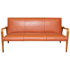 Thonet Bent Arm Leather Sofa