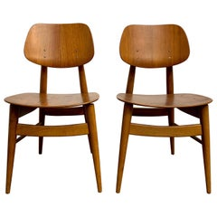 Thonet Bent Walnut Plywood Chairs