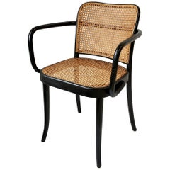 Thonet Bentwood and Cane Armchair, Austria