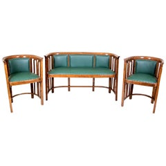 Bentwood Seating Set Design Josef Hoffmann For J&J Kohn, Austria, circa 1910