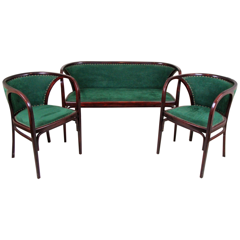 Thonet Bentwood Seating Set/ Salon Suite by M. Kammerer, Austria, circa 1910