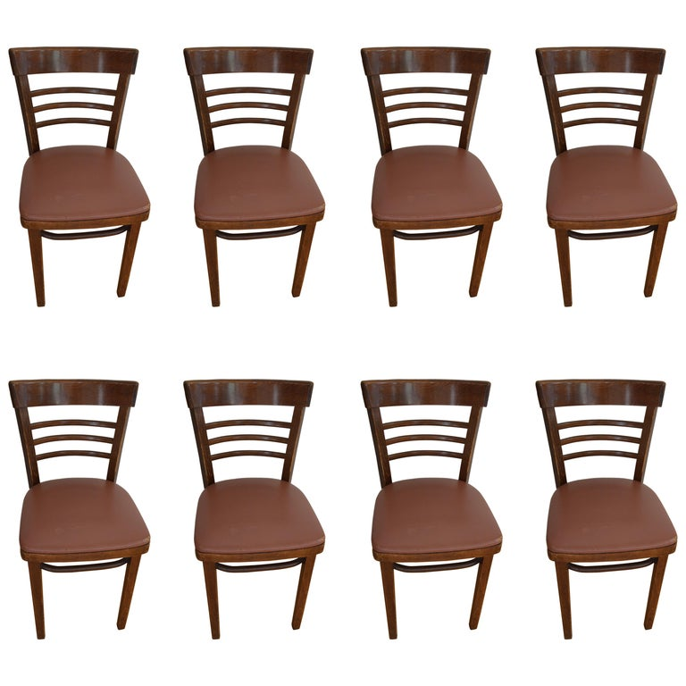 Cafe Furniture For Sale: Thonet Cafe Bistro Restaurant Chairs, Set Of Eight (NOTE