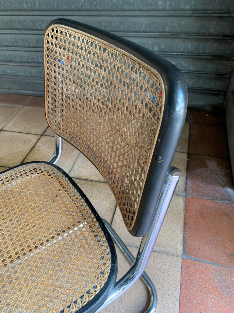Thonet, Cane Armchair S32 by Marcel Breuer, circa 1930 In Good Condition For Sale In Saint ouen, FR