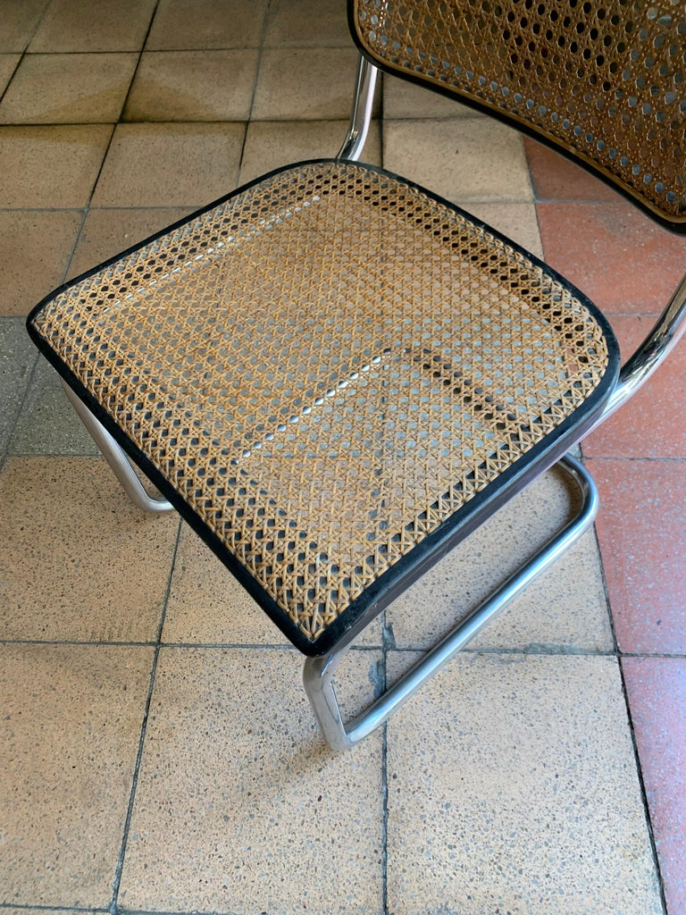 Mid-20th Century Thonet, Cane Armchair S32 by Marcel Breuer, circa 1930 For Sale