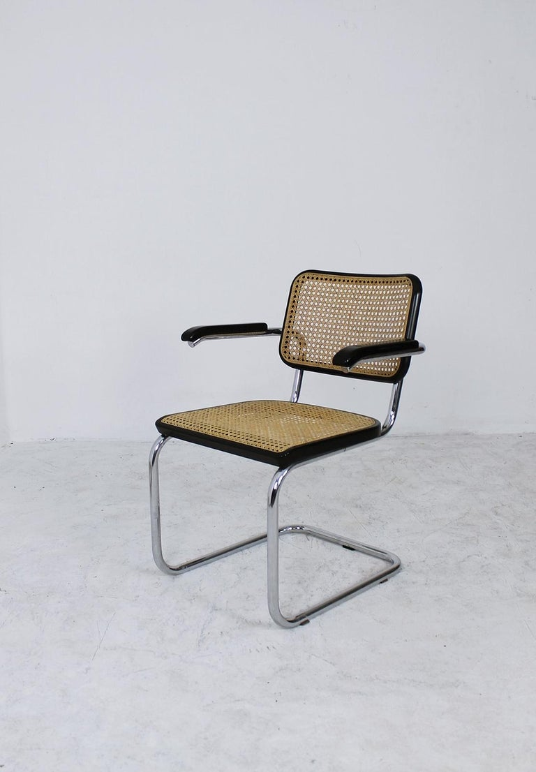 Bauhaus Thonet Cantilever Armchair Model B64 by Marcel Breuer, 1927 For Sale