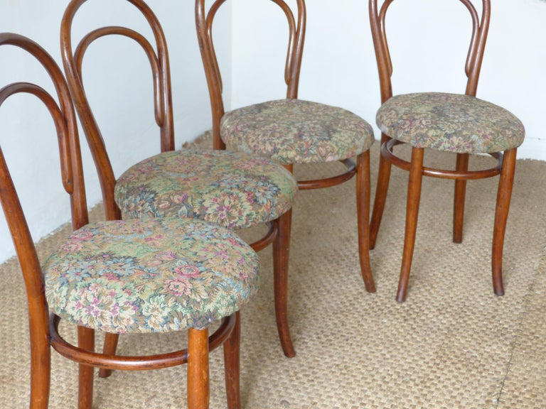 Thonet Chairs, Antique, Late 19th Century Model 14 For Sale 6