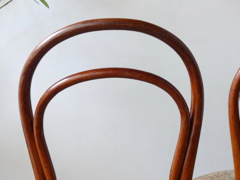 Art Nouveau Thonet Chairs, Antique, Late 19th Century Model 14 For Sale