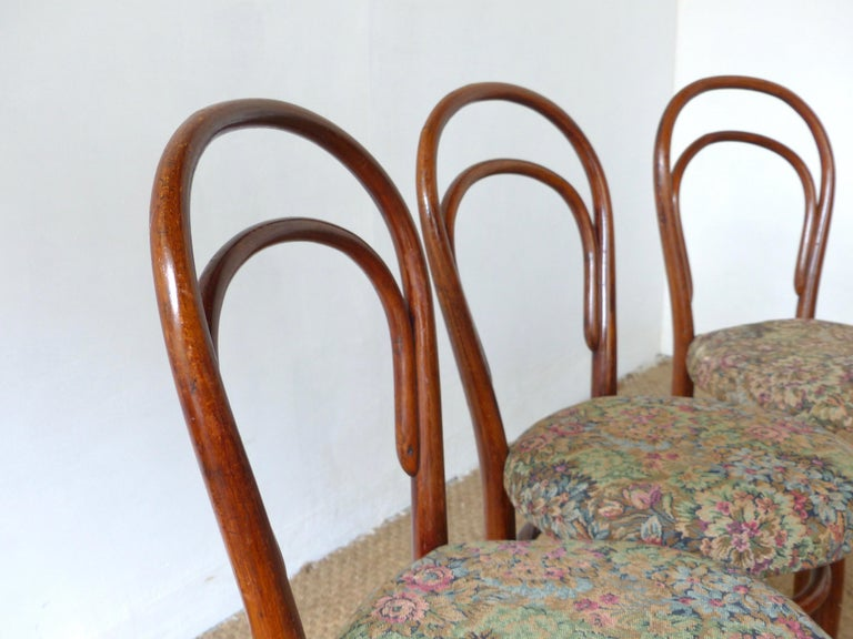 Thonet Chairs, Antique, Late 19th Century Model 14 In Good Condition For Sale In Noiseau, FR