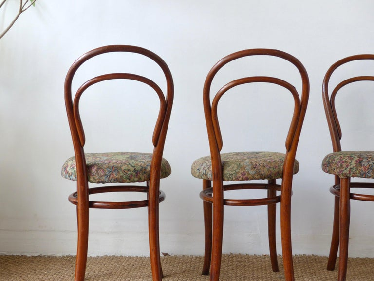Thonet Chairs, Antique, Late 19th Century Model 14 For Sale 3