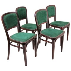 Thonet Chairs Set of Four by Marcel Kammerer Art Nouveau, Austria, circa 1910