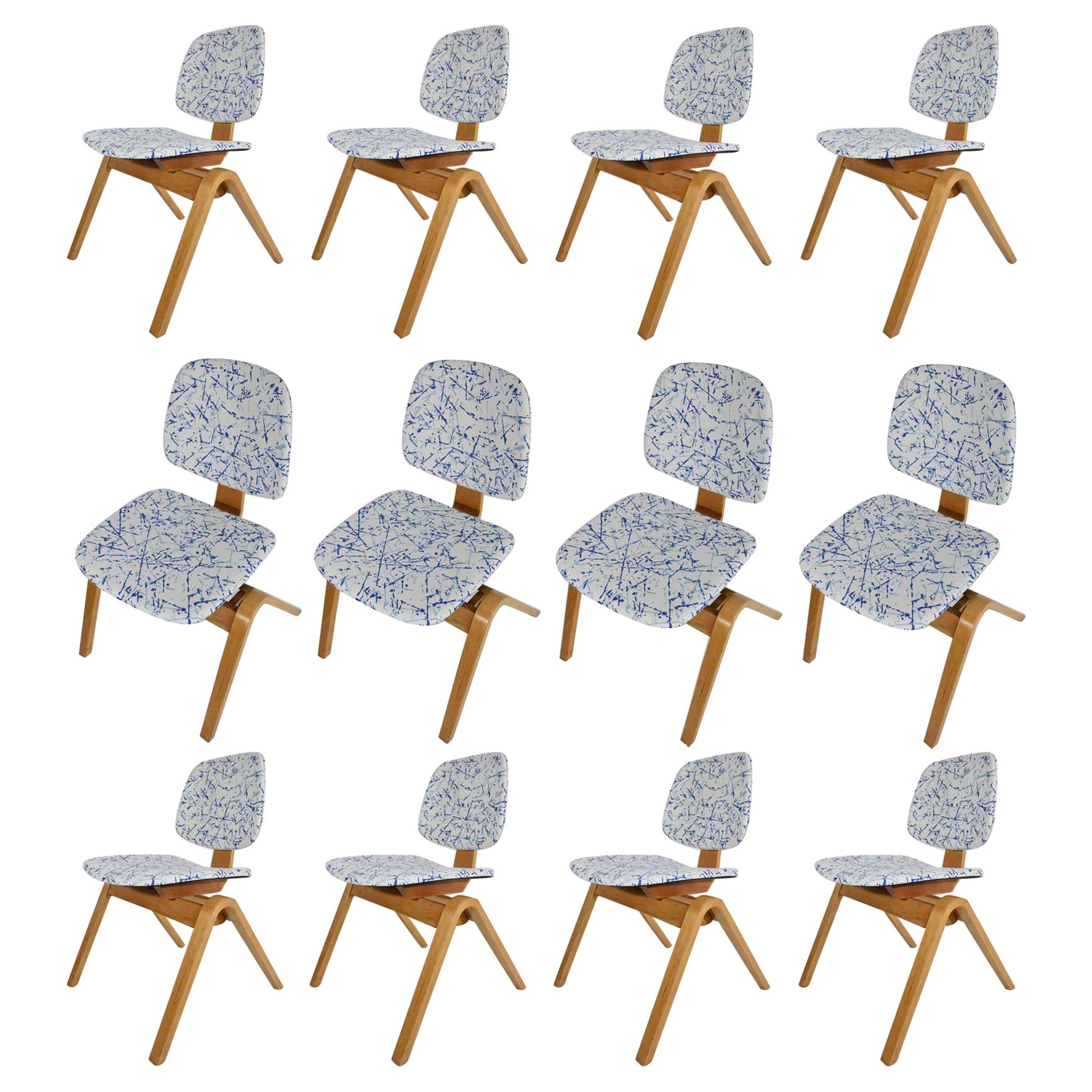 Thonet Dining Chairs, Set of 12