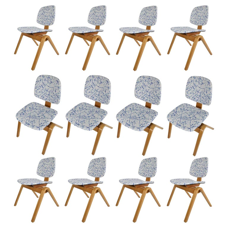 Thonet Dining Chairs, Set of 12 For Sale