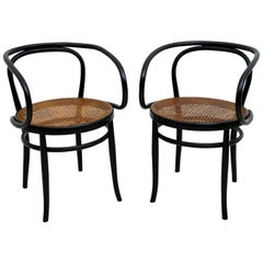 Thonet Early 20th Century Bent Beech and Vienna Straw Chairs, 1920s