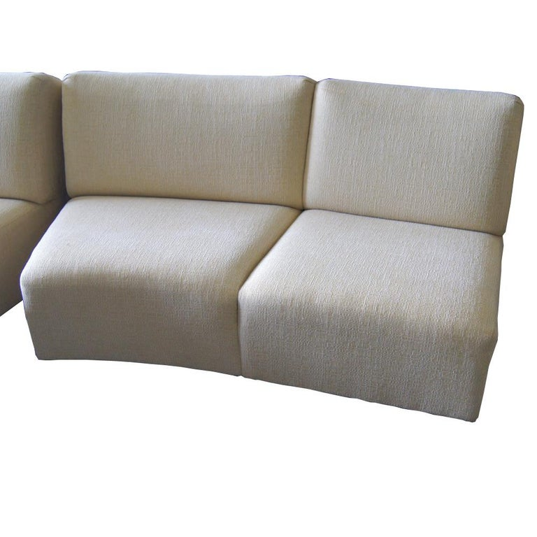 Thonet Large Serpentine Sectional Sofa For Sale 2