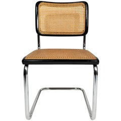 Thonet Marcel Breuer Cesca Black Side Chair Midcentury, New York