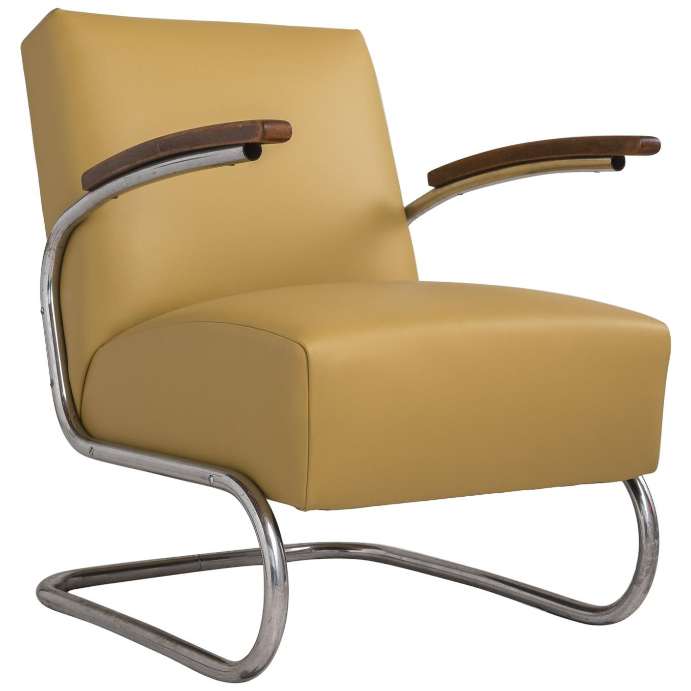 Modern leather armchair Retro Leather Thonet Modern Leather Armchair Germany Circa 1930 For Sale 1stdibs Thonet Modern Leather Armchair Germany Circa 1930 For Sale At 1stdibs