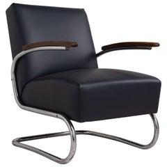 Thonet Modern Leather Armchair, Germany circa 1930