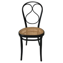 Thonet No. 1 Chair Woven Cane Seat Wenge Stained Beechwood Frame
