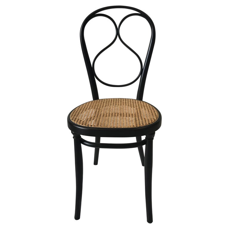 Thonet No 1 Chair Woven Cane Seat Wenge Stained Beechwood Frame