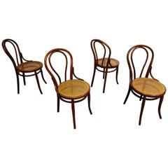 Thonet No. 14 Dining Chairs by J&J Kohn, 1930s, Set of 4