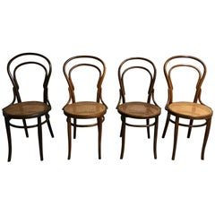 Thonet No. 14 Dining Chairs by J&J Kohn, 1950s, Set of 4