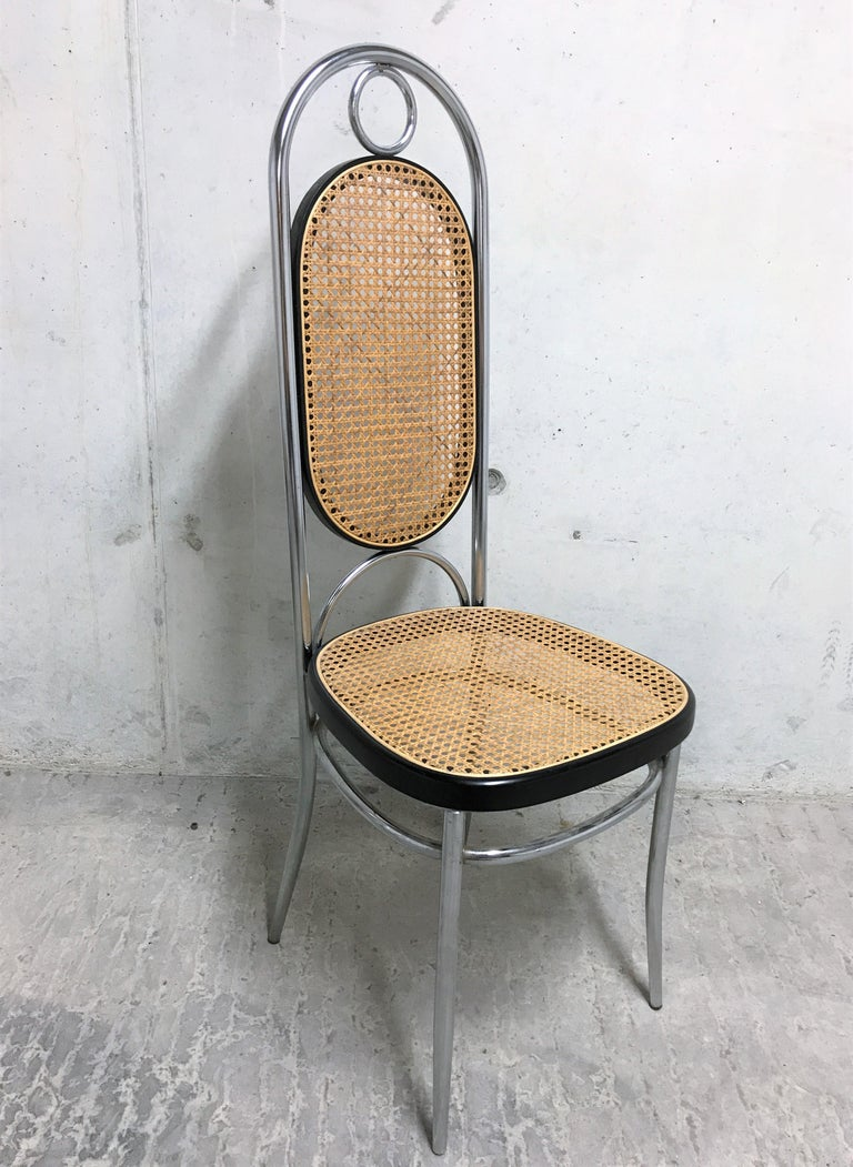 Thonet No. 17 Chrome Dining Chairs, Set of Four, 1970s In Good Condition For Sale In Ottenburg, BE