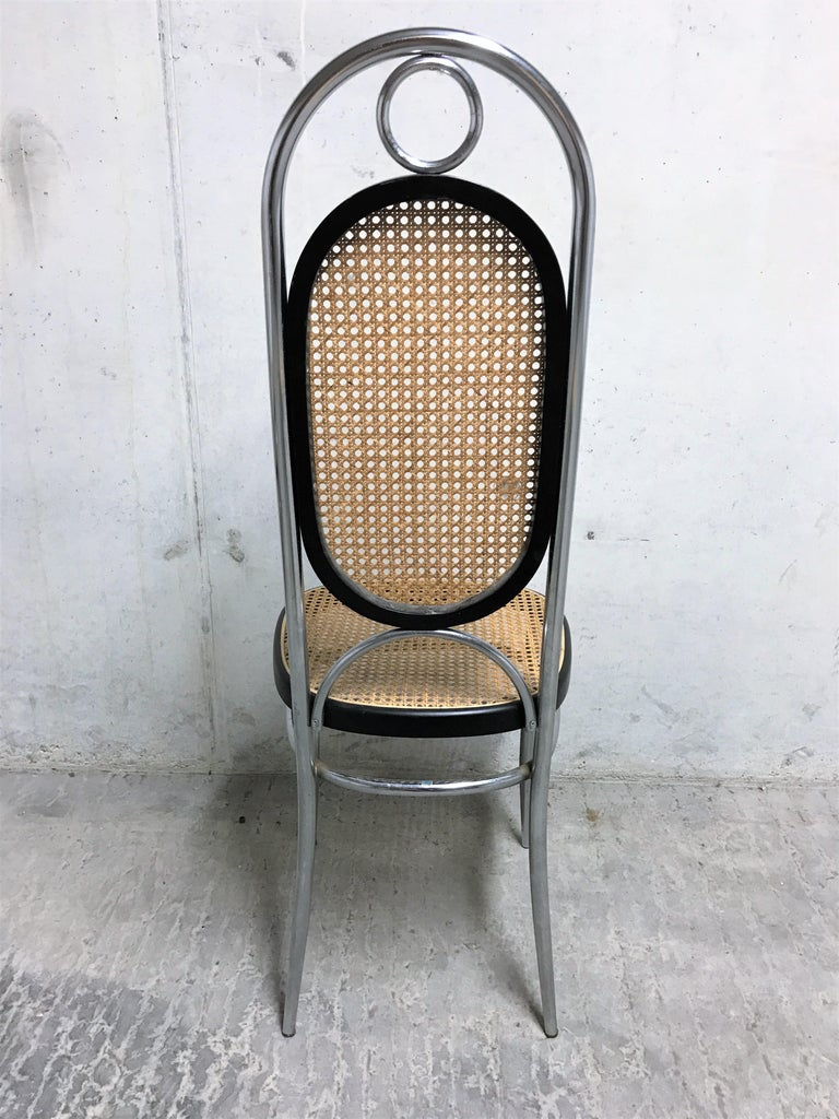 Late 20th Century Thonet No. 17 Chrome Dining Chairs, Set of Four, 1970s For Sale