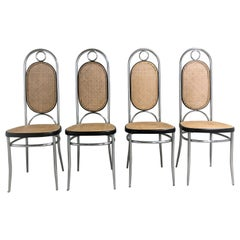 Thonet No. 17 Chrome Dining Chairs, Set of Four, 1970s