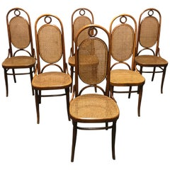 Thonet No. 17 Dining Chairs, Set of Six, 1950s