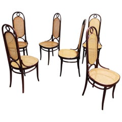 Thonet No. 17 Dining Chairs, Set of Six, 1980s