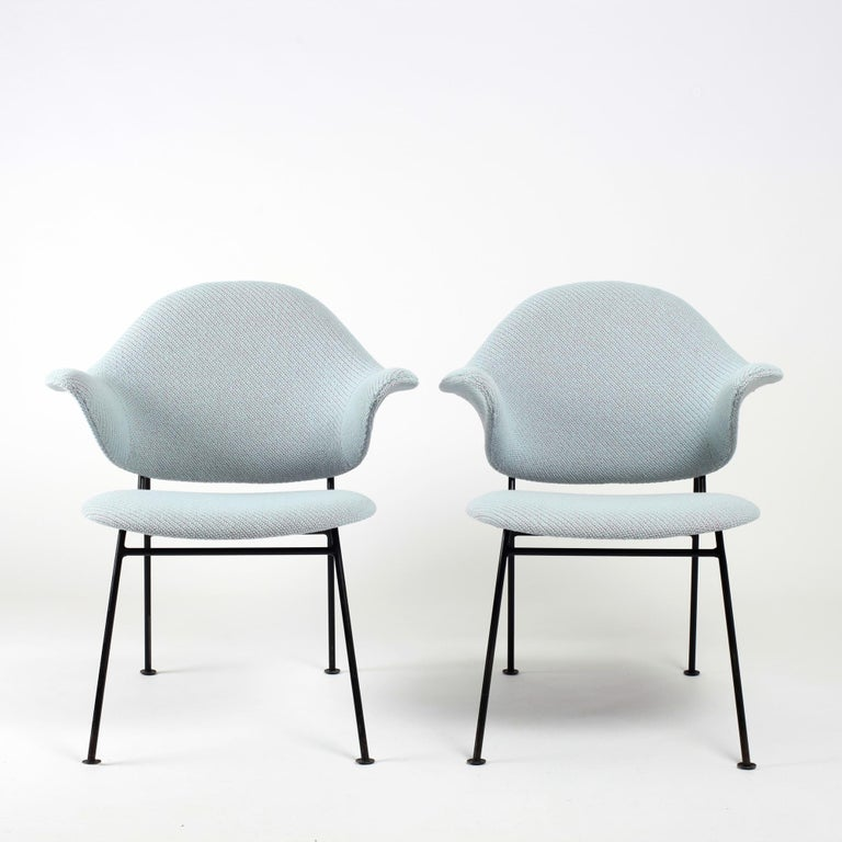 Mid-Century Modern Thonet Pair of Armchairs 1950's France For Sale