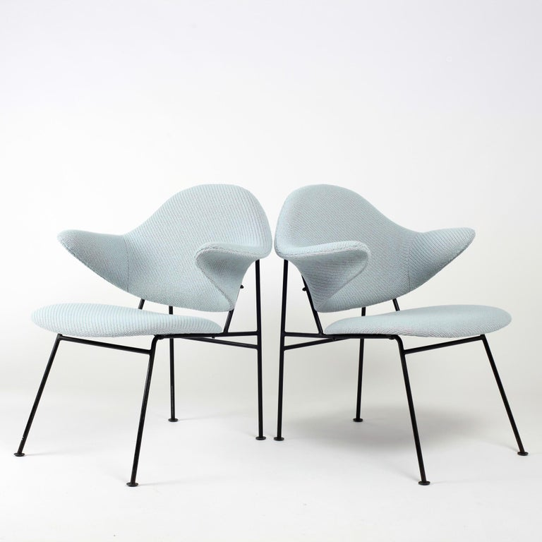 Metal Thonet Pair of Armchairs 1950's France For Sale