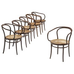 Thonet Patinated 'Vienna' Dining Chairs Model 9