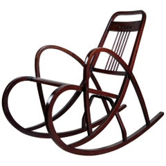 Thonet Rocking Chair, Model Number 511, Vienna Secession, circa 1904