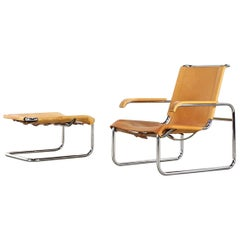 Thonet S 35 L &  S 35 H Design Marcel Breuer Lounge Chair and Ottoman