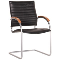 Thonet S 74 Leather Chair Black Cantilever