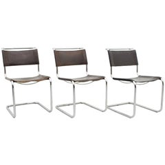 Thonet S33 Cantilever Chair Chrome and Leather Mart Stam 1926