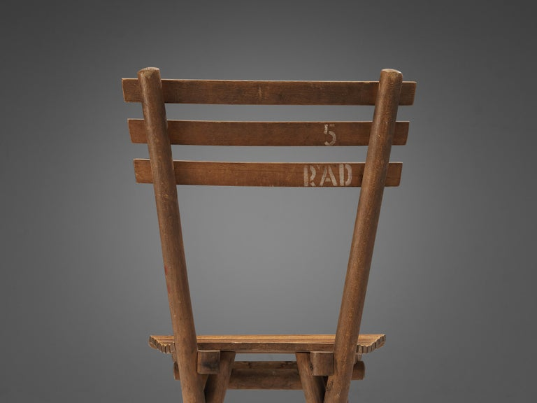 Thonet Slat Chairs in Patinated Wood For Sale 3