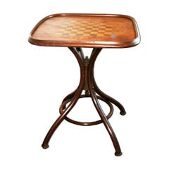 Thonet Style Bentwood Game Table, Late 19th Century or Early 20th Century