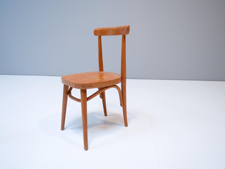 Mid-Century Modern Thonet Style Children's Bentwood Chairs, 1950s, Sweden For Sale