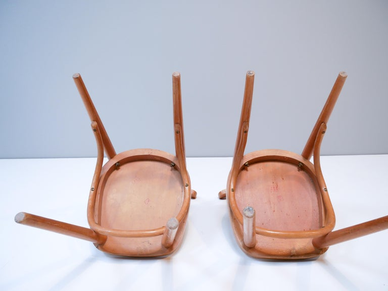 Mid-20th Century Thonet Style Children's Bentwood Chairs, 1950s, Sweden For Sale