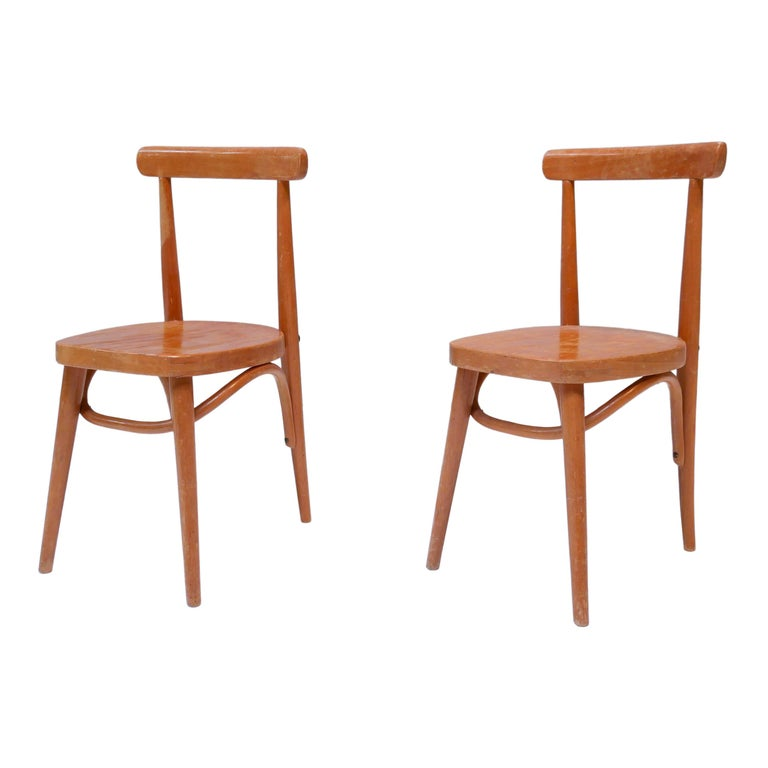 Thonet Style Children's Bentwood Chairs, 1950s, Sweden For Sale