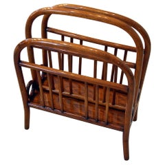 Thonet Vienna Art Nouveau Music Newspaper Magazine Rack Beech Model 33