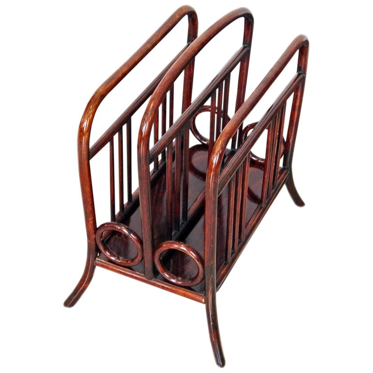 Thonet Vienna Art Nouveau Music or Newspaper Magazine Stand Model 33, 1904-1906 For Sale
