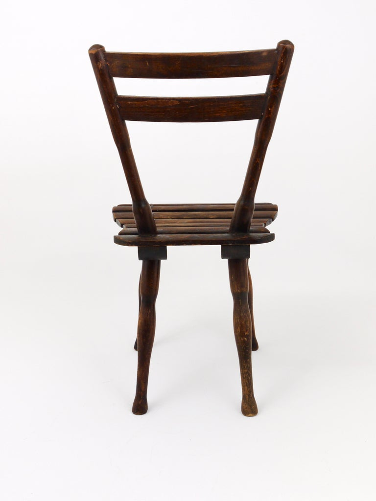 Early 20th Century Thonet Vienna Wooden Childrens Chair, Austria, 1900s For Sale