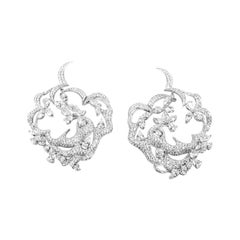 White Gold 18 K, Diamond Marquise - Pear - Round, Thorns of the Rose Earrings