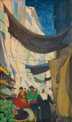"""Via Vittorio Emanuele Alassio,"" Story Illustration for Scribner's Magazine"