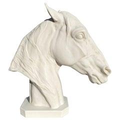 Thoroughbred Horse Portrait Sculpture, 20th Century