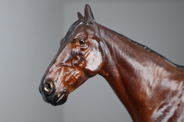 Thoroughbred Mare Horse Model in Painted Plaster by Max Landsberg, Berlin 1891 For Sale 5